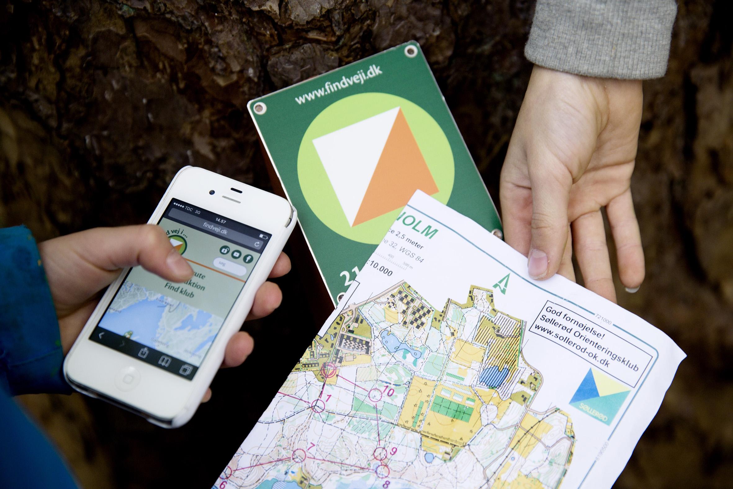 Der er udviklet både digitale og analoge værktøjer gennem projektet Find vej i, som gør det gratis og tilgængeligt for alle at prøve orienteringsløb af
